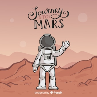 Modern hand drawn mars background