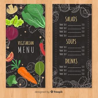 Modern hand drawn restaurant menu template