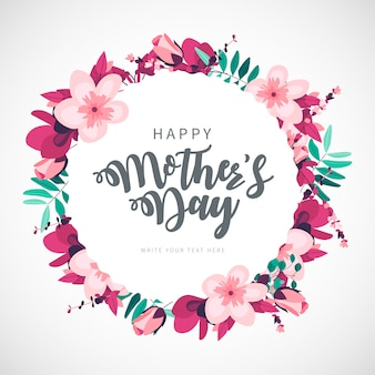 Modern happy mother's day floral background