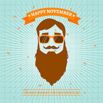 Modern happy movember design