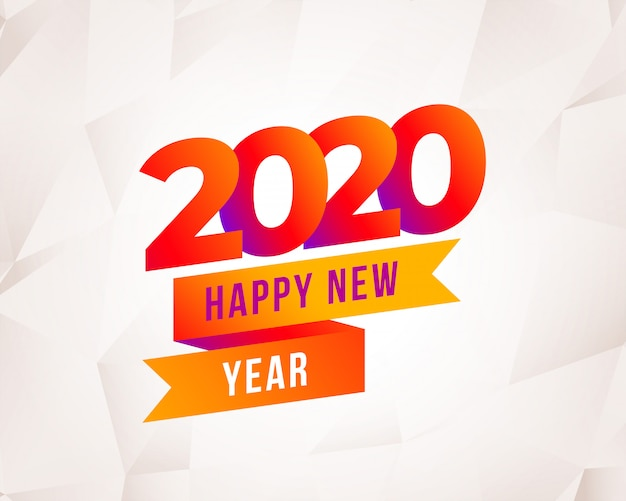 Modern happy new year 2020 colorful background