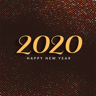 Modern happy new year 2020 colorful card