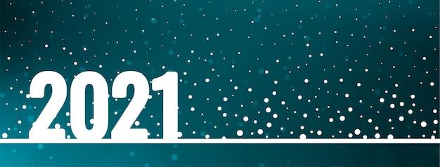 Design elegante banner moderno felice anno nuovo 2021