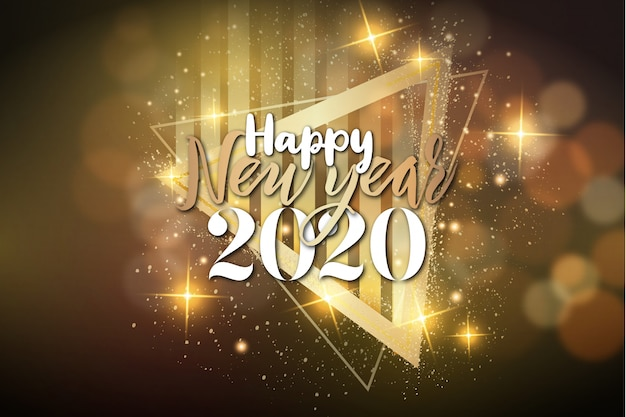Modern happy new year background with luxury frame