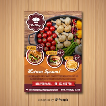 Modern healthy restaurant flyer template