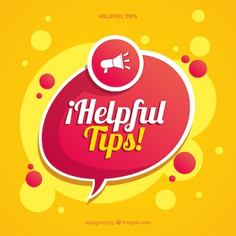 Modern helpful tips composition with flat design