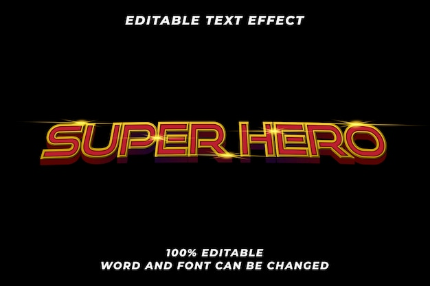 현대 영웅 3d 굵은 텍스트 스타일 효과