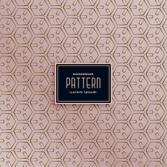 Modern hexagonal abstract seamless pattern