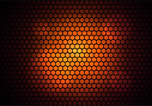 カラフルなモダンな六角形パターン技術