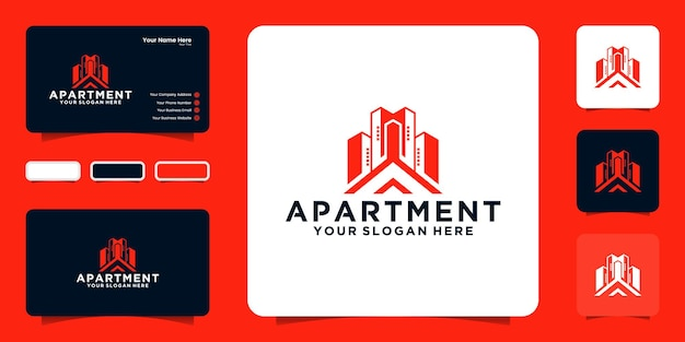 Вдохновение для дизайна современных высотных логотипов и визитных карточек