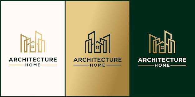 Современный дом архитектура логотип промышленный