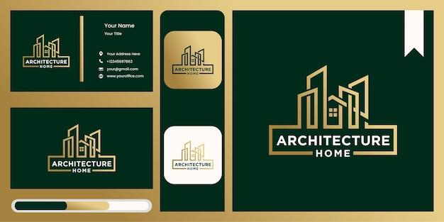 現代の家の建築 ロゴ インダストリアル