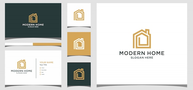 Modern home creative icon symbol logo. logo design, icon and business card premium vector