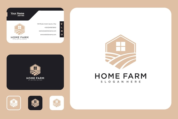 Modern home farm logo design logo design and business card