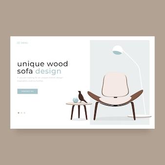 Modern home interior decoration landing page