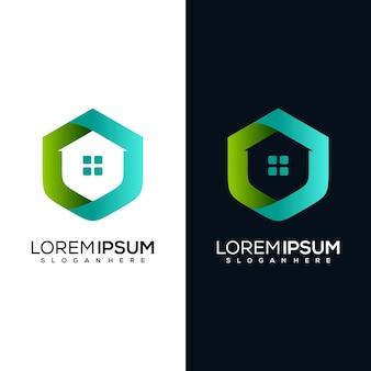 現代の家のロゴデザイン