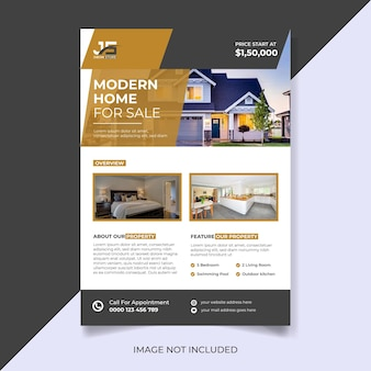 Modern home for sale real estate flyer template