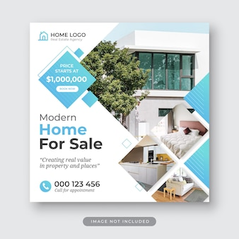현대 주택 판매 부동산 instagram 게시물 템플릿