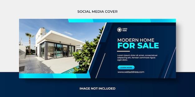 Modern home sale social media banner