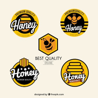 Modern honey labels set