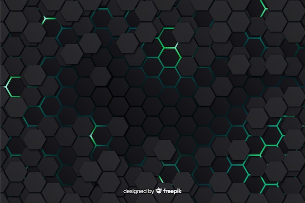 Modern honeycomb background