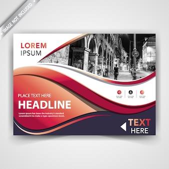 Modern horizontal leaflet