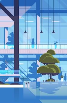 近代的な病院の建物の空の空のない人々の診療所センター医学医療概念垂直