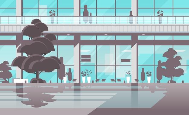 近代的な病院の建物の外観の空のない人医療センター医療