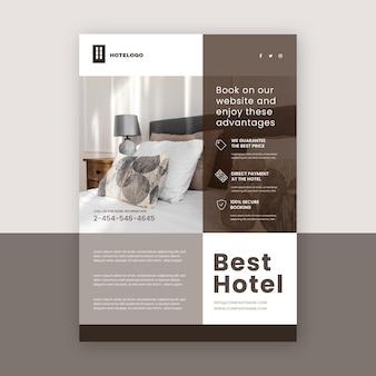 Modello di volantino hotel moderno con foto