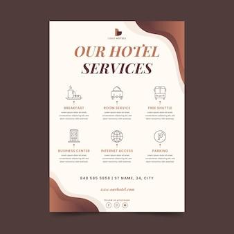 Volantino di servizi alberghieri moderni