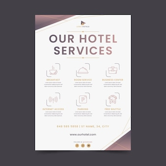 Флаер с современными гостиничными услугами