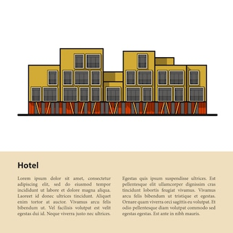 Modern hotel. template for your text at the bottom