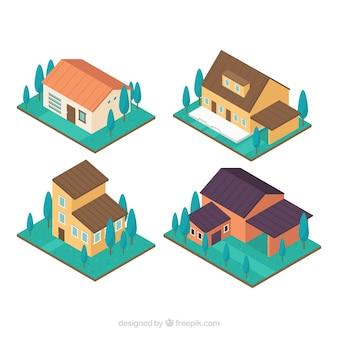 아이소 메트릭 스타일의 현대 주택 컬렉션