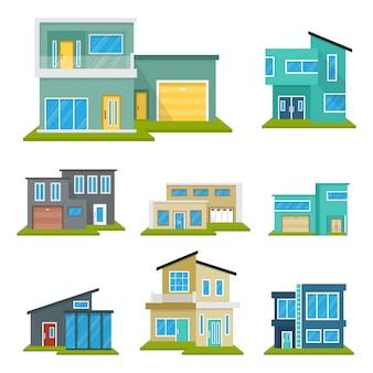 Modern house home недвижимость набор