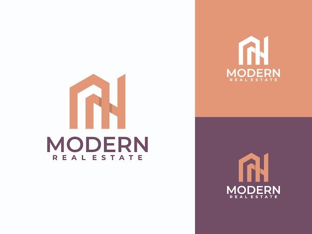 Modern house logo, monogram