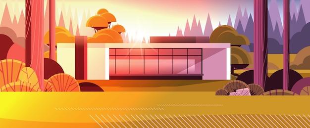 탁 트인 창문이 있는 샌드위치 패널의 현대적인 집 친환경 주택 건축 모듈식 주택