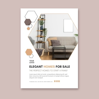 Modern houses flyer template