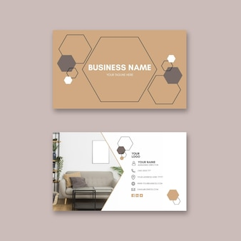 Modern houses horizontal business card template