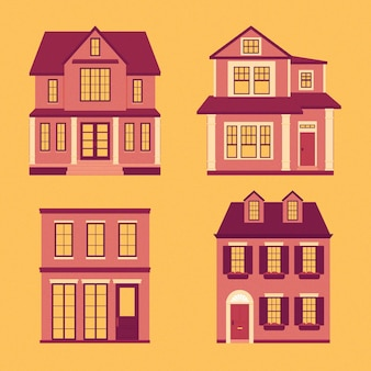 Modern houses illustrated collection