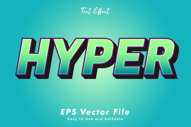 Modern hyper text typography effect template