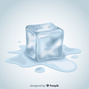 Modern ice cube collection