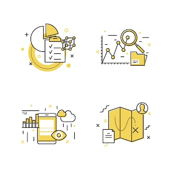 Modern icon set design