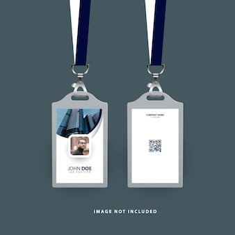 Modern id card template for company