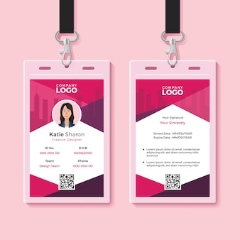 Modern identity card design template