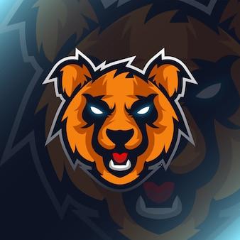 Modern illustration  animal logo for template