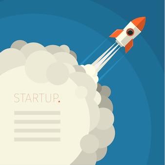 새로운 비즈니스 프로젝트 시작, 새로운 제품 또는 서비스 출시를위한 현대 일러스트레이션 개념