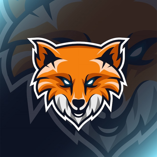 Modern illustration  head fox logo for template