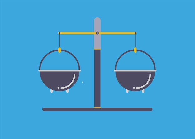 Modern illustration slider site page. scales for weighing chemical powders web banner design.