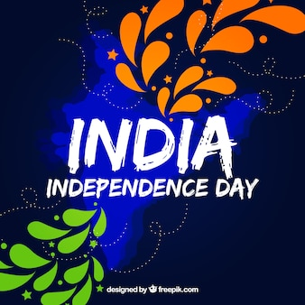 Modern india independence day background