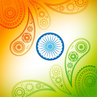 Красивый стильный индийский флаг вектор фон
